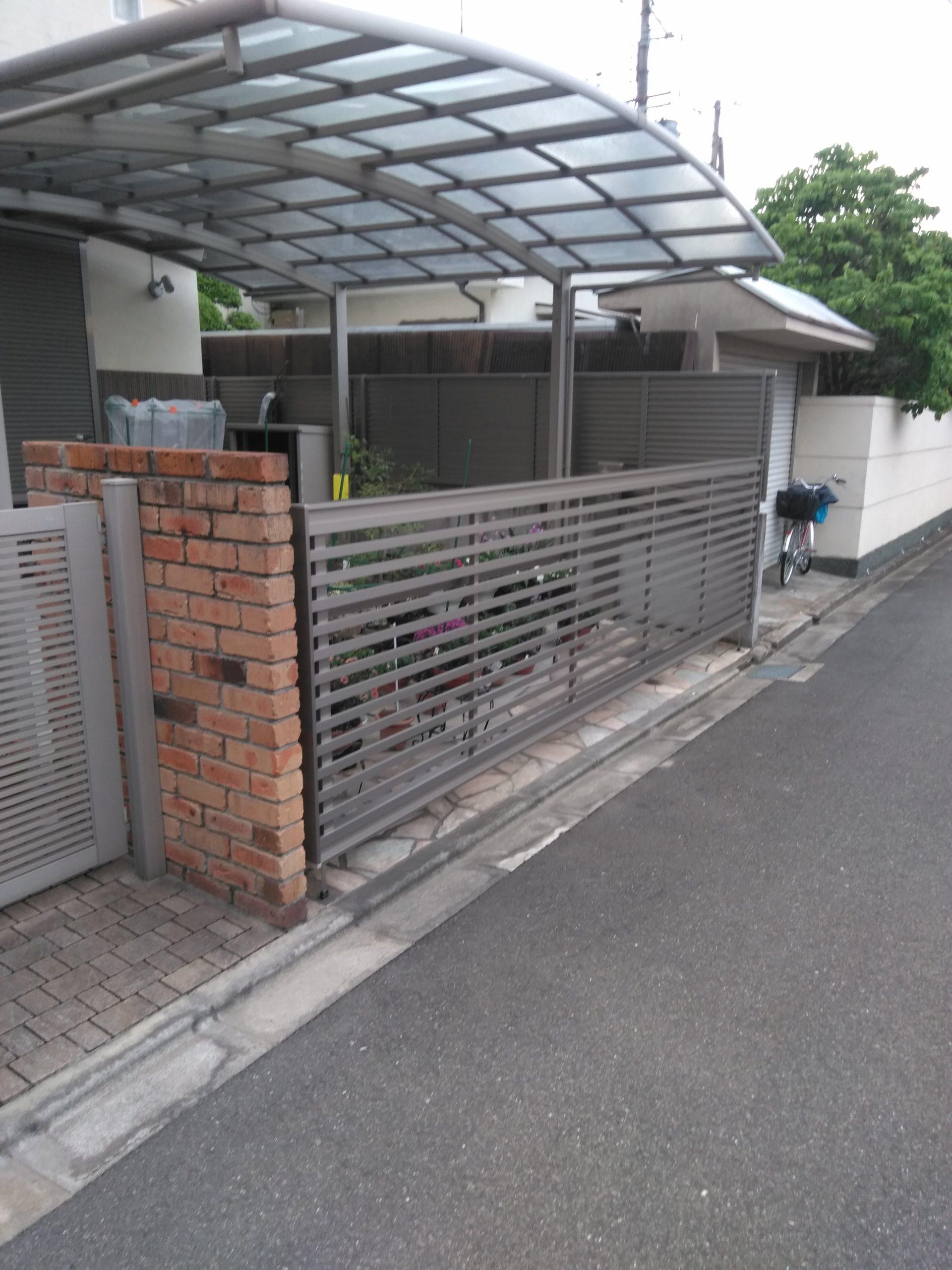 吹田市K様邸 カーゲートリフォーム