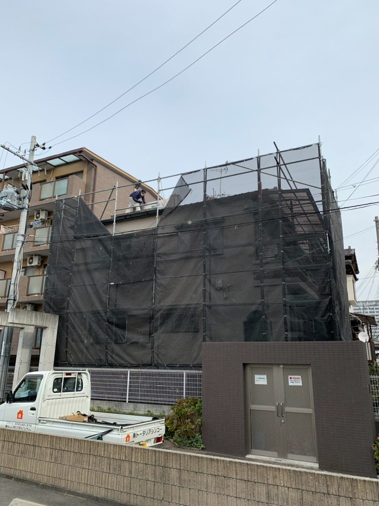 摂津市N様邸 屋根(太陽温水器撤去)