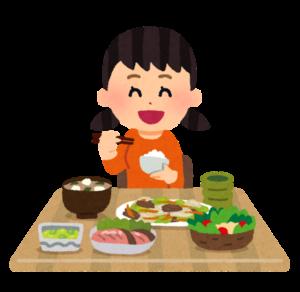 食事している女の子イメージ